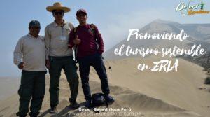 El Jefe de aréa y Guardaparques de la Zona Reservada Lomas de Ancón inician campaña para registrar el ingreso de camionetas de off road al campo de dunas del ANP y la duna el Tubo.