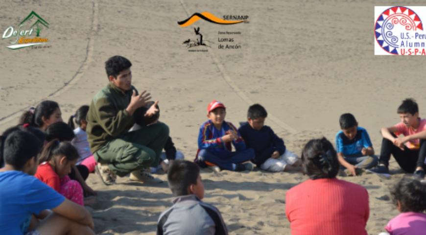 Responsabilidad Social_ Sand sledding y sandboarding con niños locales en Ancón, ZRLA (1)