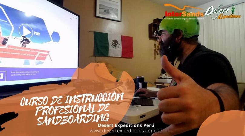Instructor de sandboard de México en el curso de Instrucción profesional de Sandboad.