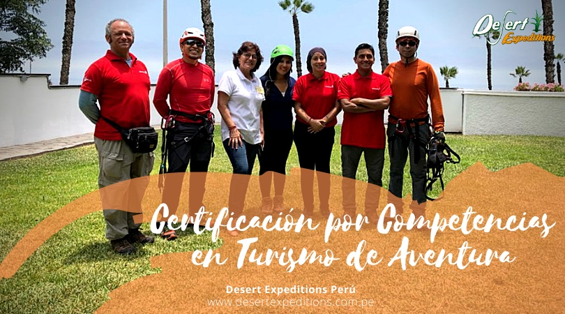 Equipo de Desert Expeditions participando de programa de certificación por competencias.